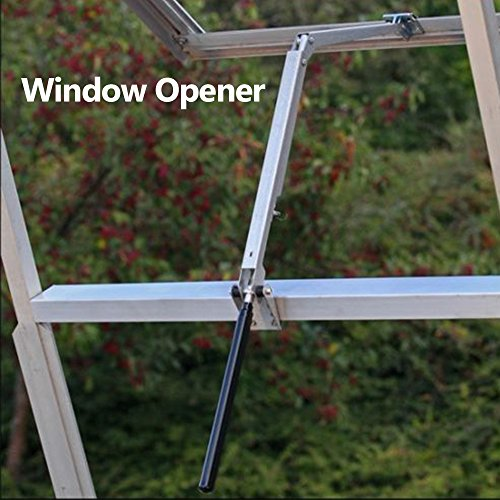 Konesky Window Vent Opener Univent Automatic Vent Opener Standard Agricultural Greenhouse Solar Powered Automatic Roof Opener - Lifts 15 Lbs (Window Vent Opener)