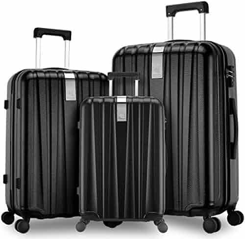 ad2b37ecf717 Shopping AmazonBasics or Hanke - Spinner Wheels - Blacks - Luggage ...
