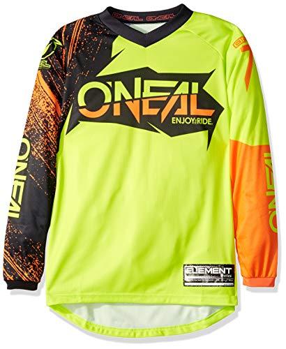 O'Neal Unisex-Adult Element Burnout Jersey (Black/Hi-Viz/Orange, Youth - Orange Jersey Youth