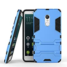 Xiaomi Redmi Note 4X Stand Case DWaybox 2 in 1 Hybrid Heavy Duty Armor Hard Back Case Cover for Xiaomi Redmi Note 4X / Xiaomi Redmi Note 4 / Hongmi Note 4 5.5 Inch (Light Blue)