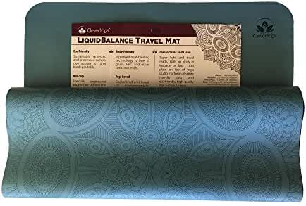 Clever Yoga Mat Premium LiquidBalance 4.5mm Thick Mat Or 1mm Travel Mats Eco and Body Friendly Sweat Grip Non-Slip With Carrying Yoga Mat Bag (One Mat)