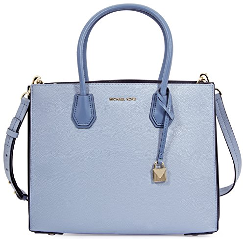 Michael Kors Mercer Large Accordion Tote- Pale Blue