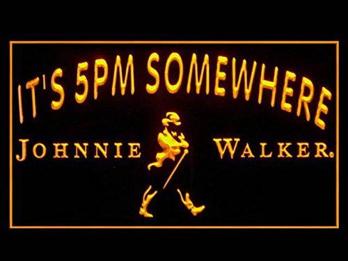 Johnnie Whisky Walker (Johnnie Walker Whiskey IT 5PM Somewhere Hub Bar Advertising LED Light Sign P930Y)
