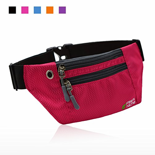 Fitters Niche Running Sport Belt, Travel Buddy Money Belt Waist Fanny Packs, 3 Roomy Pockets Adjustable Elastic Waistband, Fit Phones Up To 6 inches, Ideal For Outdoor Travel Cycling Hiking Jogging (Fanny Pack Alternative compare prices)