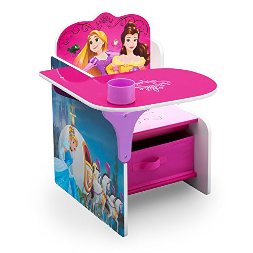 Delta Children Chair Desk with Stroage Bin, Disney Princess