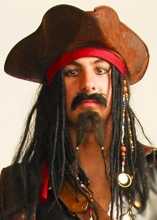 Jack Sparrow estilo bigote y barba Set