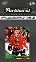 Chicago Blackhawks 2017 2018 Upper Deck PARKHURST Series Factory Sealed 10 Card Team Set including Patrick Kane, Corey Crawford, Jonathan Toews, an EXCLUSIVE Blackhawks Team Card Plus