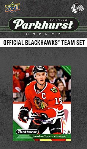 Chicago Blackhawks 2017 2018 Upper Deck PARKHURST Series Factory Sealed 10 Card Team Set including Patrick Kane, Corey Crawford, Jonathan Toews, an EXCLUSIVE Blackhawks Team Card Plus (Blackhawks Best Player 2019)