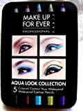 Award-winning Make up for Ever Aqua Eyes 5 Pencils Eyeliner Pencil Set