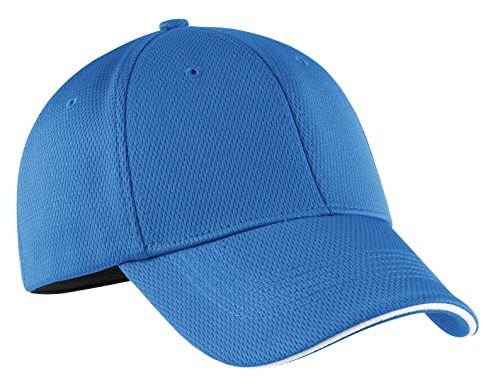 (Nike Golf Dri-Fit Mesh Swoosh Flex Sandwich Cap Pacific Blue 333115 S/M)