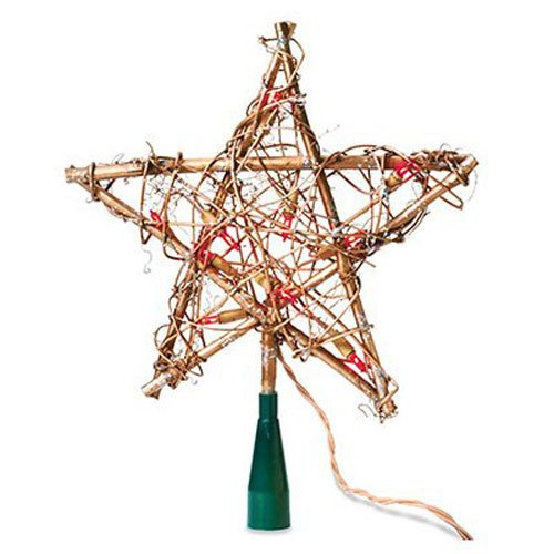 NOMA/INLITEN-IMPORT V49377-88 Grapevine Star Tree Top - Grapevine Reindeer