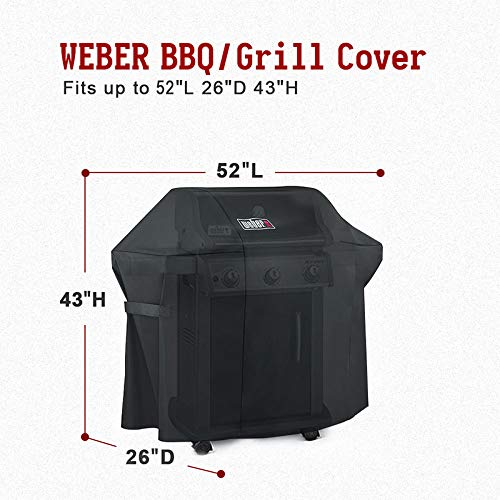 Weber Grill Cover 7106 Cover for Spirit 200 and 300 Series Gas Grill (52L x 26W x 43H inch) by Wecover (Image #2)