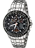Citizen Men's JY0000-53E Eco-Drive Skyhawk At Stainless Steel Black Dial Watch