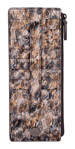 - Lodis Accessories Women's Roar RFID Credit Card Case w/Zipper Wallet Toffee One Size