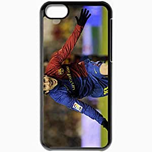 Personalized iPhone 5C Cell phone Case/Cover Skin Leonel Messi Footballer Sports Black