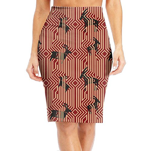 I Love Goat Women's Stretchy Mini Pencil Skirt Straight Basic Bodycon Office Dress