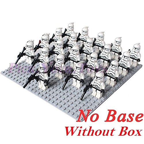 Hot 21 PCS White Clone Trooper Star Wars Mini figures combat team Building Toys