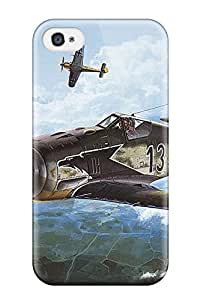 Premium Durable Aircraft Fashion Tpu Iphone 4/4s Protective Case Cover