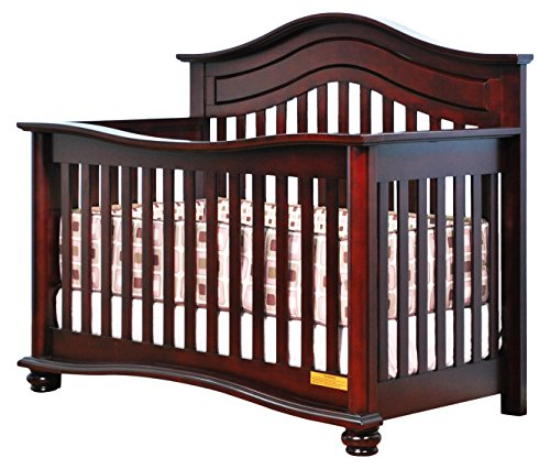 Athena Lia 4-in-1 Convertible Crib Cherry with Guardrail