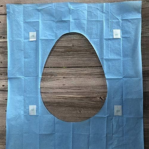 使い捨て旅行用トイレパッド、コーティングされた木材パルプ紙製トイレットパッド、拡張便座紙 10ピース