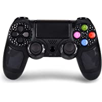 Controller PS4 wireless di alta qualità con DoubleShock 4 e batteria agli ioni di litio con 1000 mAh di capacità per PlayStation 4. Compatibile con PS4/Slim/Pro, Windows e PSTV/SMART TV (Nero)