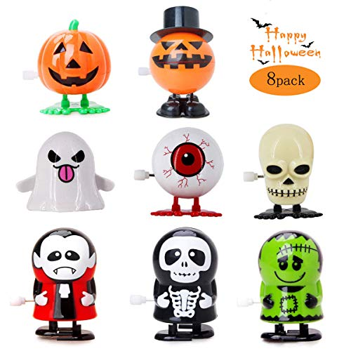 Cymely Halloween Wind up Toys Assorted Clockwork Toys Supply for Halloween Party Favors Goody Bag Filler for Boys Girls Kids Toddlers 8 Packs (Halloween)