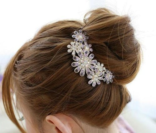 Beautiful Jewelry Flowers Crystal Hair Clips – for hair clip Beauty Tools, Health Care Stuffs