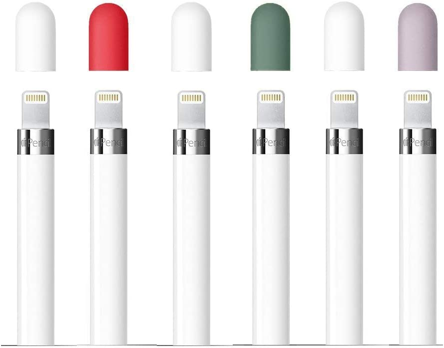 CoBak Replacement Cap for Apple Pencil - Silicone Protective Cap Cover for Apple Pencil 1st Generation (6 Pack)