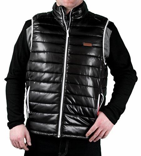Sleeveless Bubble (MO7 Men's Poly Filled 'Down-Look' Bubble Vest, Black, Size)