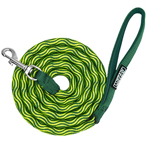 LukPaw 6 ft Dog Leash - Heavy Duty Nolyn Rope Leash with Padded Handle for Medium and Large Dogs Training Hiking Climbing Walking (Green) by LukPaw