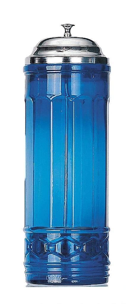 Cobalt Blue Glass Straw Dispenser by GSM