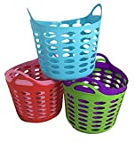 Storage Organizer Handle Basket, 5 Assorted Colors