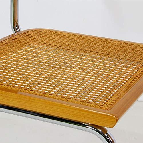 KullDesign.com Silla Cesca Style Color Miel. Silla clásica de Oficina, Inspirada en el diseño de Marcel Breuer Miel