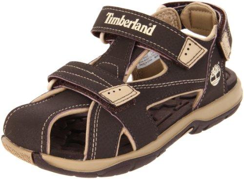 Timberland Mad River Closed Toe Sandal (Toddler/Little Kid/Big Kid),Brown,4 M US ()