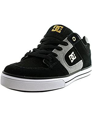 Shoes Pure XE Youth Round Toe Leather Black Skate Shoe