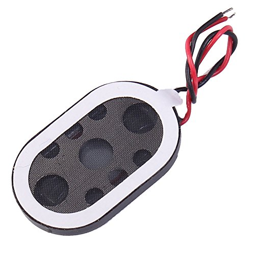 Icstation 8 Ohm 1W Mini Internal Magnet Speaker Loudspeaker 24mm X 15mm Oval for Laptop Tablet GPS Navigator Repair (Pack of 10) ()