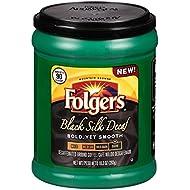 Folgers Black Silk Decaf Ground Coffee, 10.3 Ounce