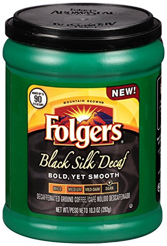 Folgers Black Silk Decaf Ground Coffee, 10.3 Ounce