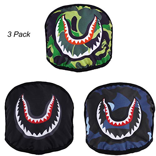 3 Pack Cartoon Shark Mouth Masks for Adults Breathable Washable Cotton Blend Anti Dust Flu Allergy Face Mask for Men Woman, Stretchy Earloop ()