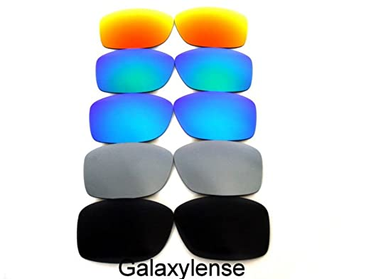 764a27a006 Amazon.com  Galaxy Replacement Lenses For Oakley C Wire New (2011) Sunglasses  Black Titanium Blue Green Red Polarized  Clothing