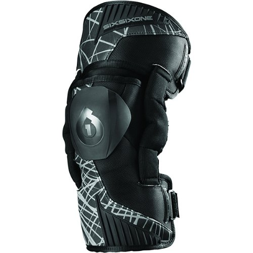 Sixsixone Body Armor (SixSixOne Unisex Cyclone Wired Knee Brace Off-Road Motorcycle Body Armor - Black / Large)