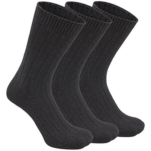Eallco Mens Dress Crew Socks 3 Pack Knitting Wool Alpaca Casual Fall Winter Sock
