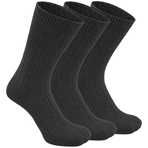 Eallco Mens Dress Crew Socks 3 Pack Knitting Wool Alpaca Casual Classic Patterned Sock