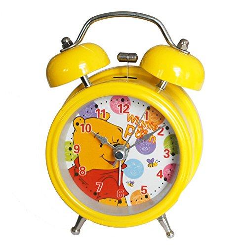 6025B Extremely Silent Children Cartoon Metal Twin Bell Alarm Clock 3