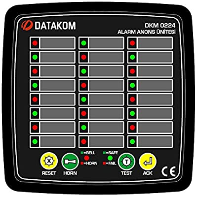 DATAKOM DKM-0224 Alarm Annunciator, 24 channels, AC power supply