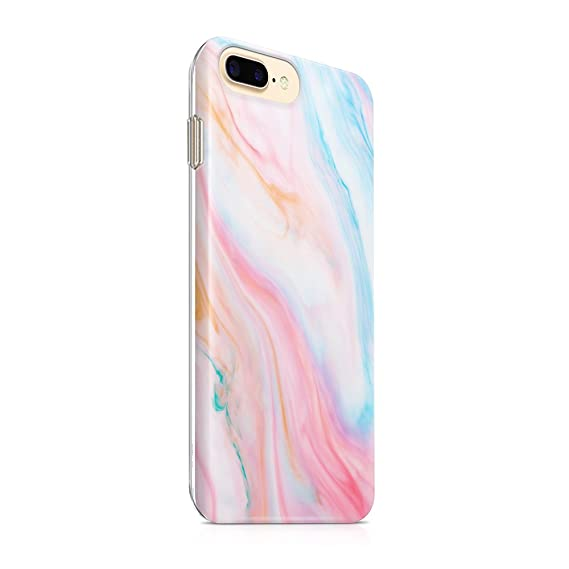 iPhone 8 Plus Case iPhone 7 Plus Case for Girls uCOLOR Pastel Marble Ultra  Slim Hard Shell Soft TPU Dual Layer Protective Case for iPhone 7 Plus/8