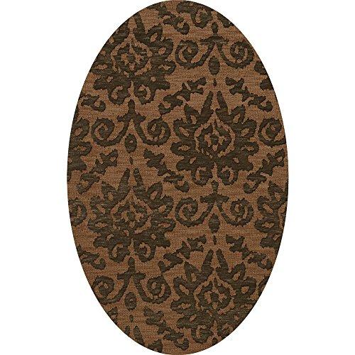 Dalyn Rugs BL10LT8X10OV Bella BL10 Rugs, 8X10OV, Brown,Leather