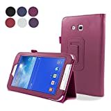 Samsung Galaxy Tab 3 Lite 7.0 SM-T110 Case,Replacement Closure Premium PU Leather Wallet Case Closure with Kickstand and Credit Card Slot Cash Holder Flip Case Compatible with Samsung Galaxy Tab 3