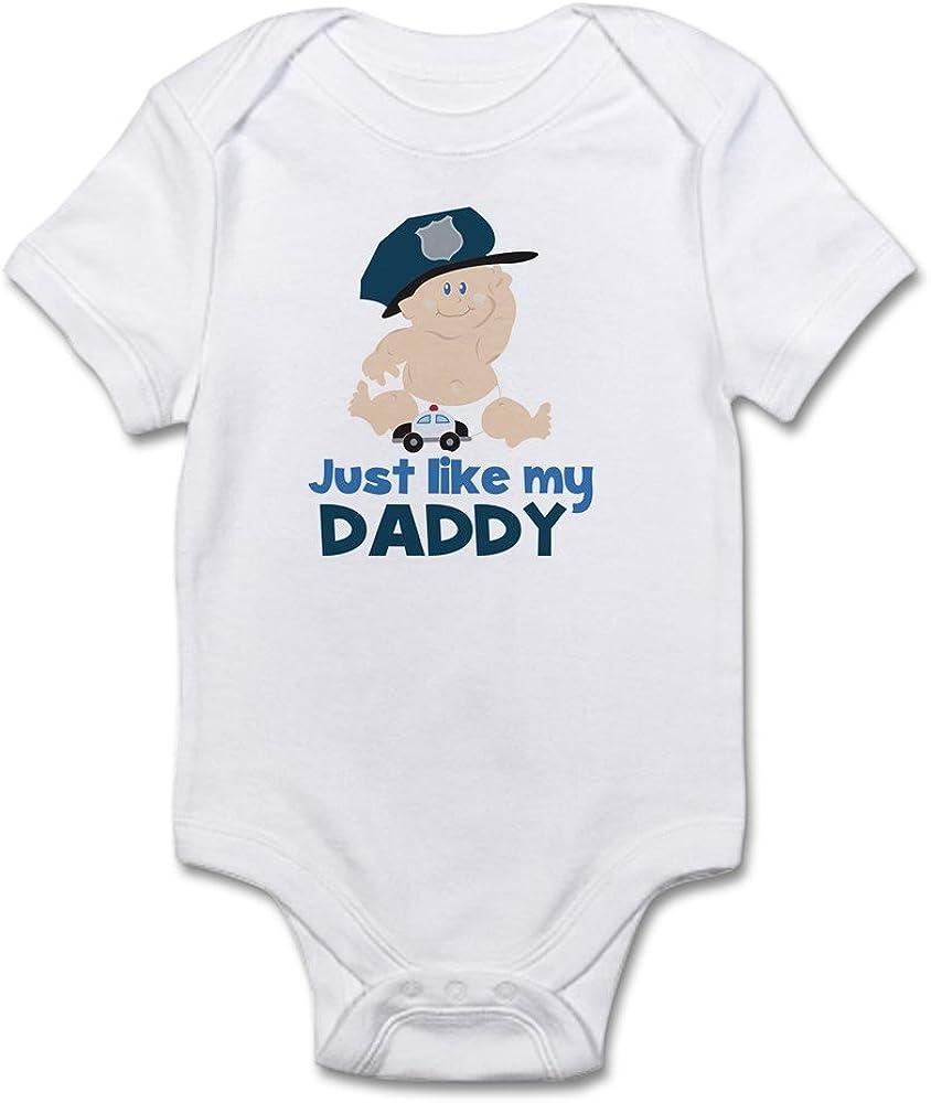 CafePress My Dad is A Cop Cute Infant Bodysuit Baby Romper
