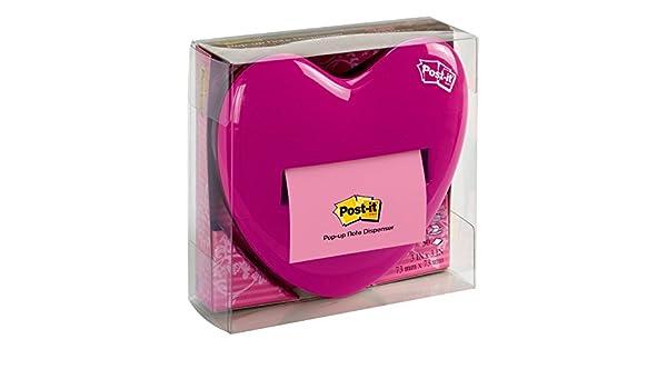 3M - Post-It Dispensador Corazón Z-Notes + 1 Bloc Notas Z-Notes (76 X 76): Amazon.es: Oficina y papelería